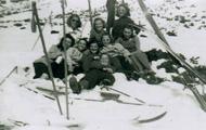 Speidargjenter på skitur ...